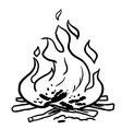 black and white fire vector image vector image