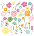 blooming wild flowers vector image
