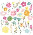 blooming wild flowers vector image vector image