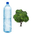 bottle and Tree vector image