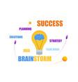 brainstorm success planning strategy teamwork vector image