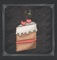cake of bakery food design vector image vector image