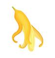 cartoon banana tropical fruit banana snack vector image vector image
