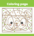 children educational game coloring page with vector image vector image