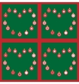 Christmas balls with snowflakes seamless pattern vector image vector image