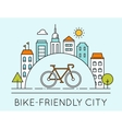 City and Touring Bike Bike-Friendly City Sign vector image