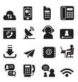 communication technology icons set 2 vector image