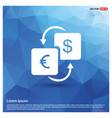 currency converter icon vector image