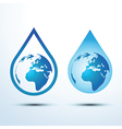 Earth water drop vector image vector image