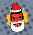 Evil Angry Santa Claus Red with anger person vector image vector image
