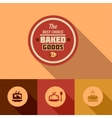flat baked goods design vector image vector image