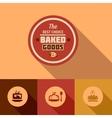flat baked goods design vector image