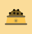 flat icon on background dog food bowl vector image