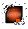 frame halloween with soccer balls vector image