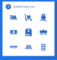 freight icons vector image vector image