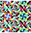 geometric symmetric pattern decorative colorful vector image