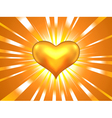Gold heart vector image vector image