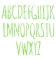 Green alphabet with watercolor texture vector image vector image