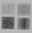 grunge rough hatching drawing textures set vector image vector image