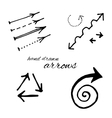 Hand Drawn Arrow Icon vector image vector image