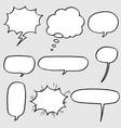 hand drawn set speech bubbles vector image vector image