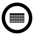 hotel icon black color in circle vector image