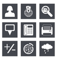 Icons for Web Design set 49 vector image vector image