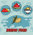 indian food flat concept icons vector image vector image