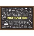 inspiration on chalkboard vector image vector image