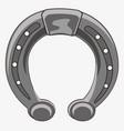 iron horseshoe on hoof vector image vector image