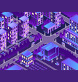 isometric urban night vector image vector image