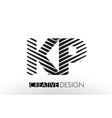 kp k p lines letter design with creative elegant vector image vector image