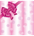 Light pink background with ribbon and bow vector image vector image