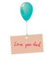 Love you dad card vector image