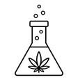 marijuana research in lab vector image vector image