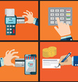 Mobile banking Icons shop online business icons in vector image vector image