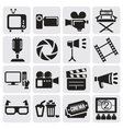 movie icons set vector image