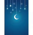 Present Card in Night Theme vector image vector image