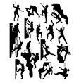 rock climber silhouettes vector image vector image