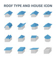 roof type icon vector image vector image