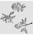 rose flower tattoo pattern floral fabric vintage vector image vector image