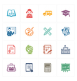 School and Education Icons Set 1 - Colored Series vector image vector image