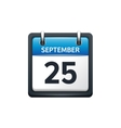 September 25 Calendar icon vector image vector image