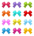 Set Colorful Simple Gift Bows Isolated vector image vector image