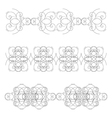 Set of elements vector image vector image