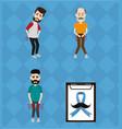 set of movember prostate cancer vector image