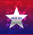 shiny silver star 4th july background vector image vector image