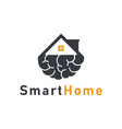 smart home icon logo design template vector image