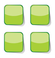 stickers green vector image