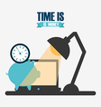 time is money design vector image vector image